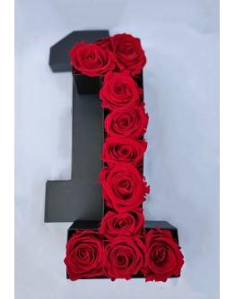 Kutija s poklopcem u obliku brojke 1