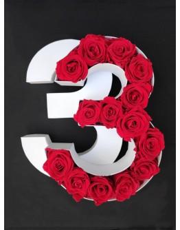 Kutija s poklopcem u obliku brojke 3