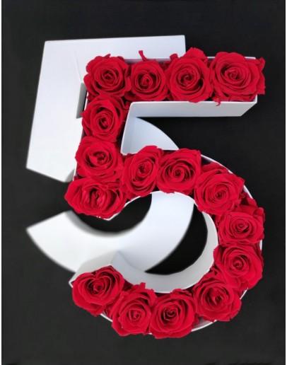 Kutija s poklopcem u obliku brojke 5