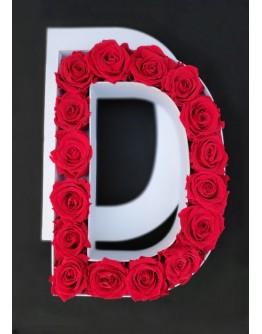 Kutija s poklopcem u obliku slova D.