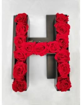 Kutija s poklopcem u obliku slova H.