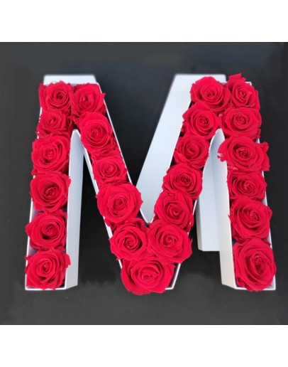 Kutija s poklopcem u obliku slova M.