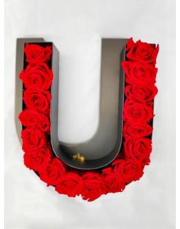 Kutija s poklopcem u obliku slova U.